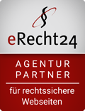 Logo: eRecht24 Agenturpartner für rechtssichere Websites